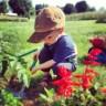 Kids Gardening, Digging Vertically Challenged Mom Gardening