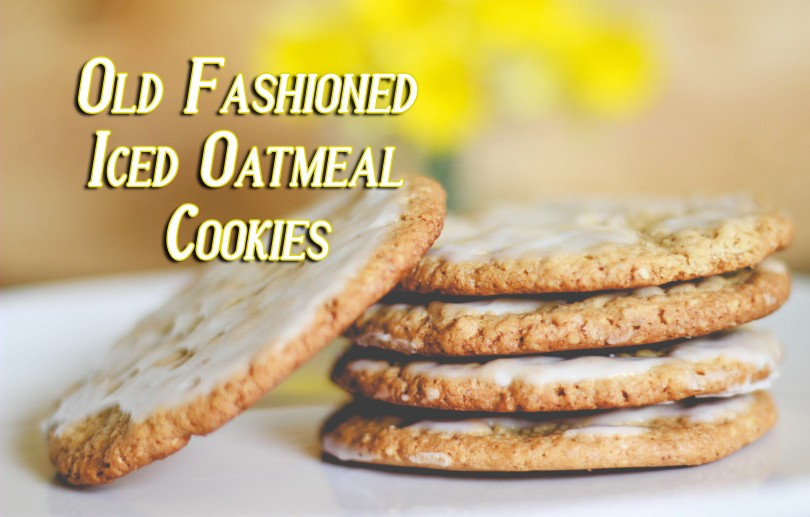 Old Fashioned Iced Oatmeal Cookies Vertically Challenged Mom